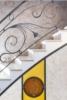 Rampe escalier fer forgé et verrière Art Déco