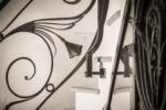 Rampe escalier fer forgé Esprit Art Déco
